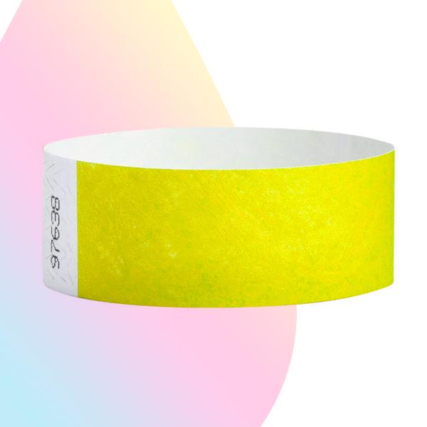 pulseras-para-eventos-sin-imprimir-amarillo-neon